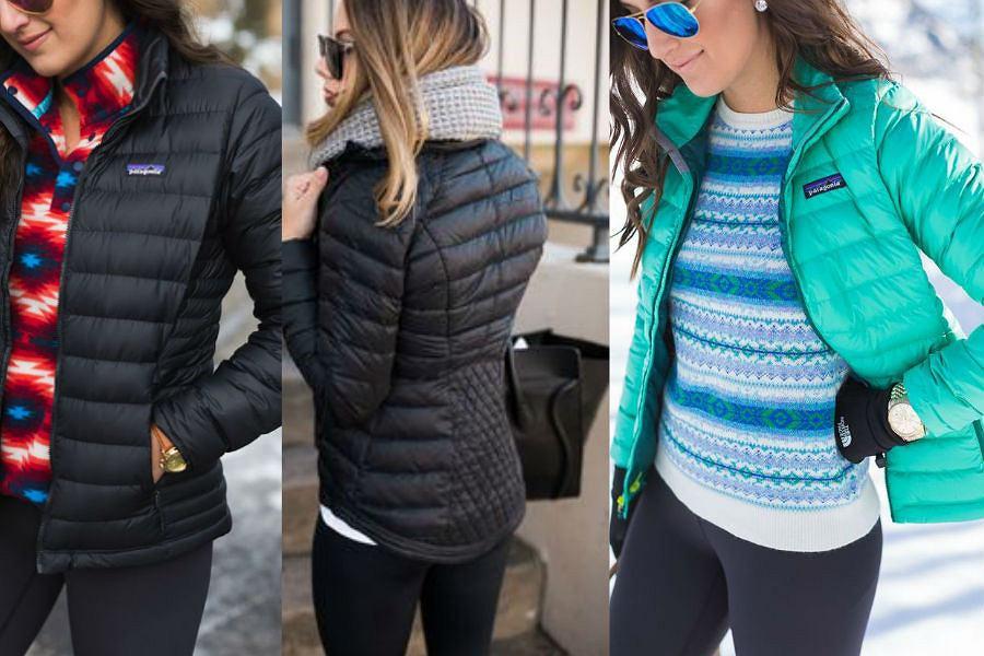 czarna puchowa kurtka damska stylizacje