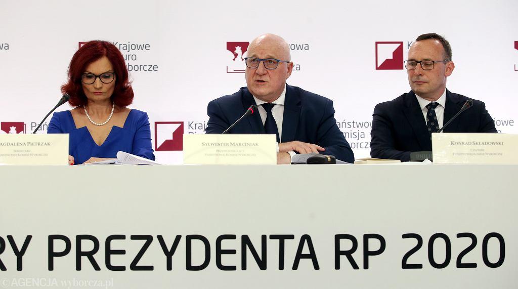 %Konferencja wyborcza PKW w Warszawie