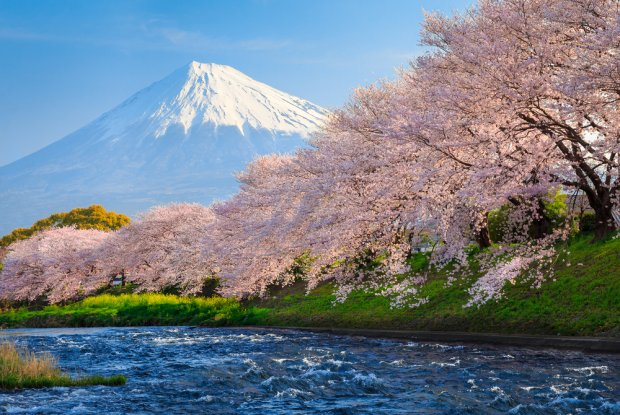 Japonia, szczyt Fudżi.