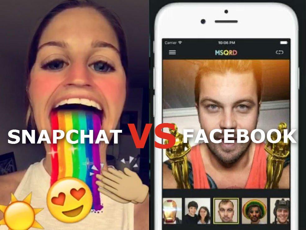 Snapchat i Facebook wydają miliony na takie aplikacje