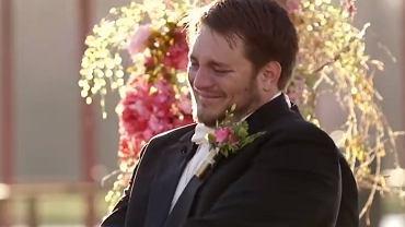 Kent kiedy zobaczył swoją ukochaną w białej sukni, płakał ze szczęścia.