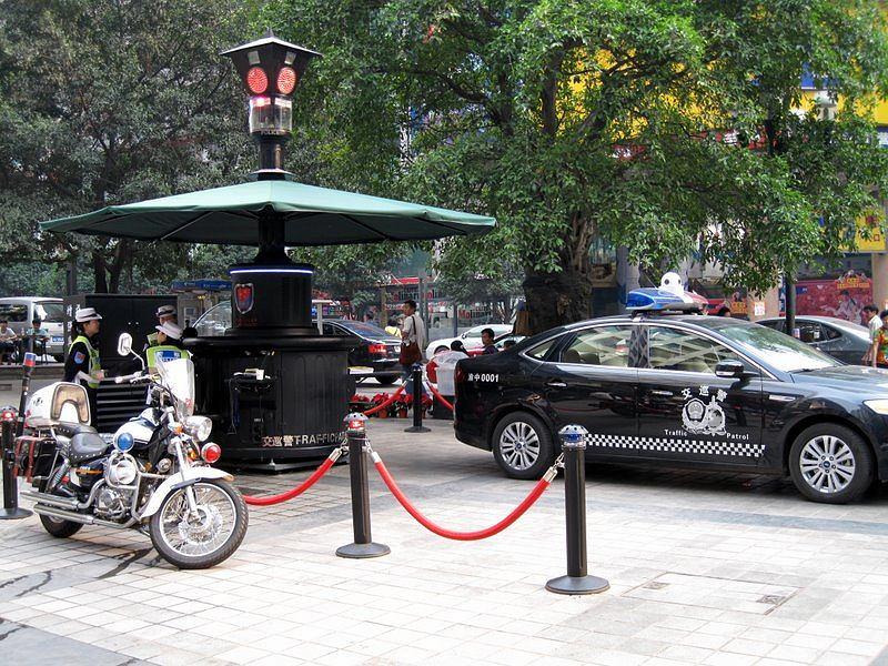 Policja w mieście Chongqing. Zdjęcie ilustracyjne