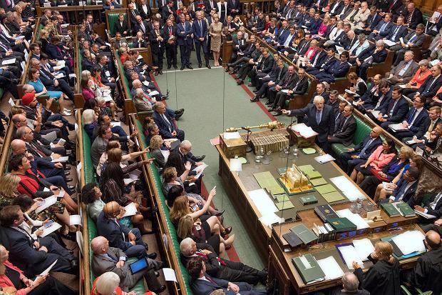 4.09.2019, Londyn, debata w Izbie Gmin, przemawia premier Wielkiej Brytanii Boris Johnson
