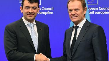 Premier Mołdawii Chiril Gaburici i Przewodniczący Rady Europejskiej Donald Tusk