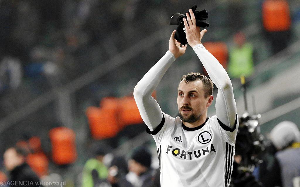 Michal Kucharczyk podczas meczu o mistrzostwo Ekstraklasy Legia Warszawa - Lech Poznan