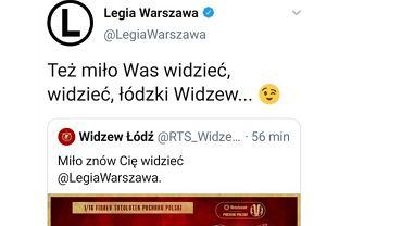 Kontrowersyjny wpis Legii Warszawa na Twitterze