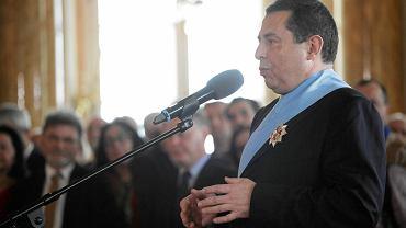 Uroczystość uhonorowania 6 osób Orderami Orła Białego przez Andrzeja Dudę