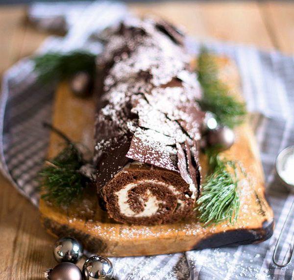 B?che de Noël - francuskie ciasto czekoladowe - kłoda