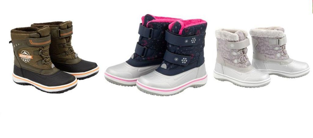 Biedronka. Promocja na śniegowce dziecięce w rozmiarach 26-30