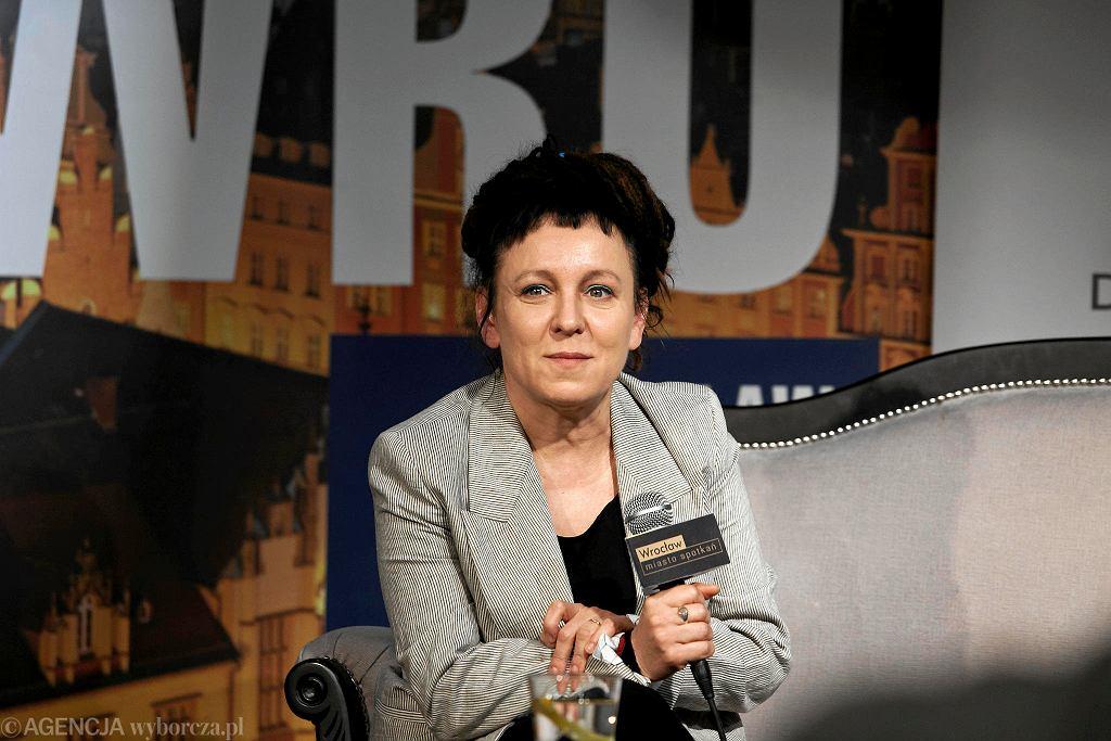 Olga Tokarczuk na pierwszej polskiej konferencji we Wrocławiu