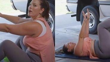 Ashley Graham - trening po ciąży