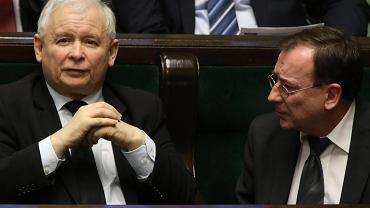 Jarosław Kaczyński i Mariusz Kamiński