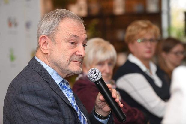 Prof. Ryszard Lauterbach, prezes Polskiego Towarzystwa Neonatologicznego podczas spotkania zorganizowanego przez Koalicję dla wcześniaka z okazji nadchodzącego Światowego Dnia Wcześniaka 2019