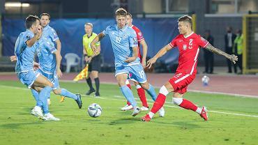 Kamil Piątkowski w meczu z San Marino