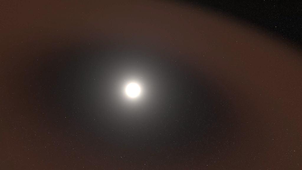 Pył kosmiczny 'rozrzucony' po Układzie Słonecznym