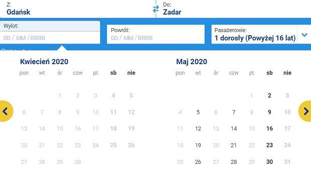 Loty z Gdańska do Zadaru