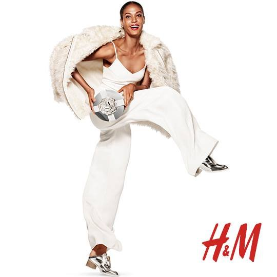 Joan Smalls w kampanii H&M Party zima 2014