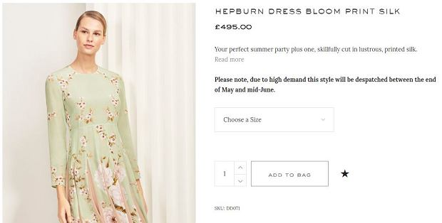 'The Hepburn Dress', The Fold