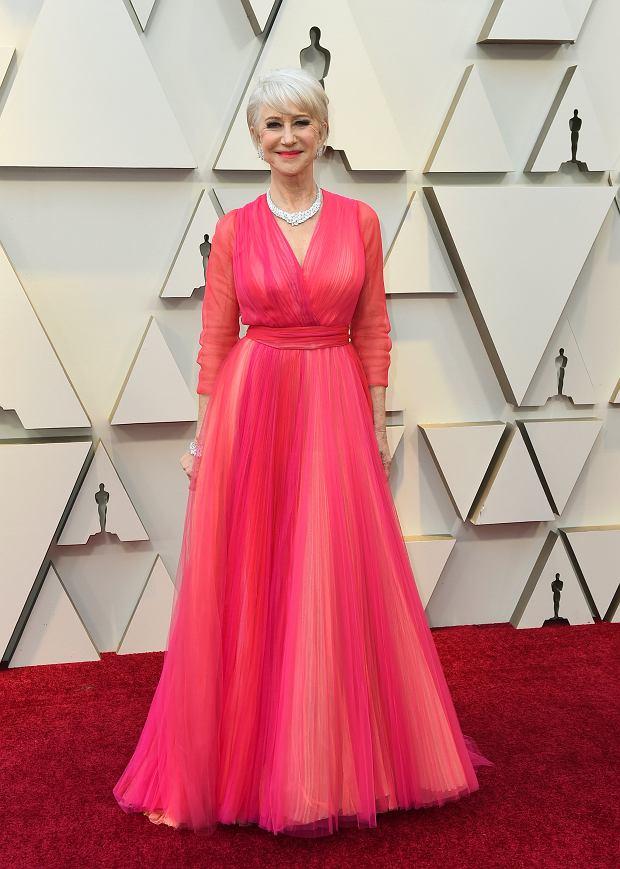 Helen Mirren w różowej sukni Schiaparelli