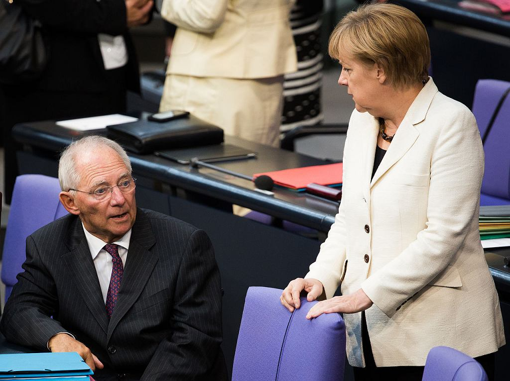 Wolfgang Schäuble i Angela Merkel