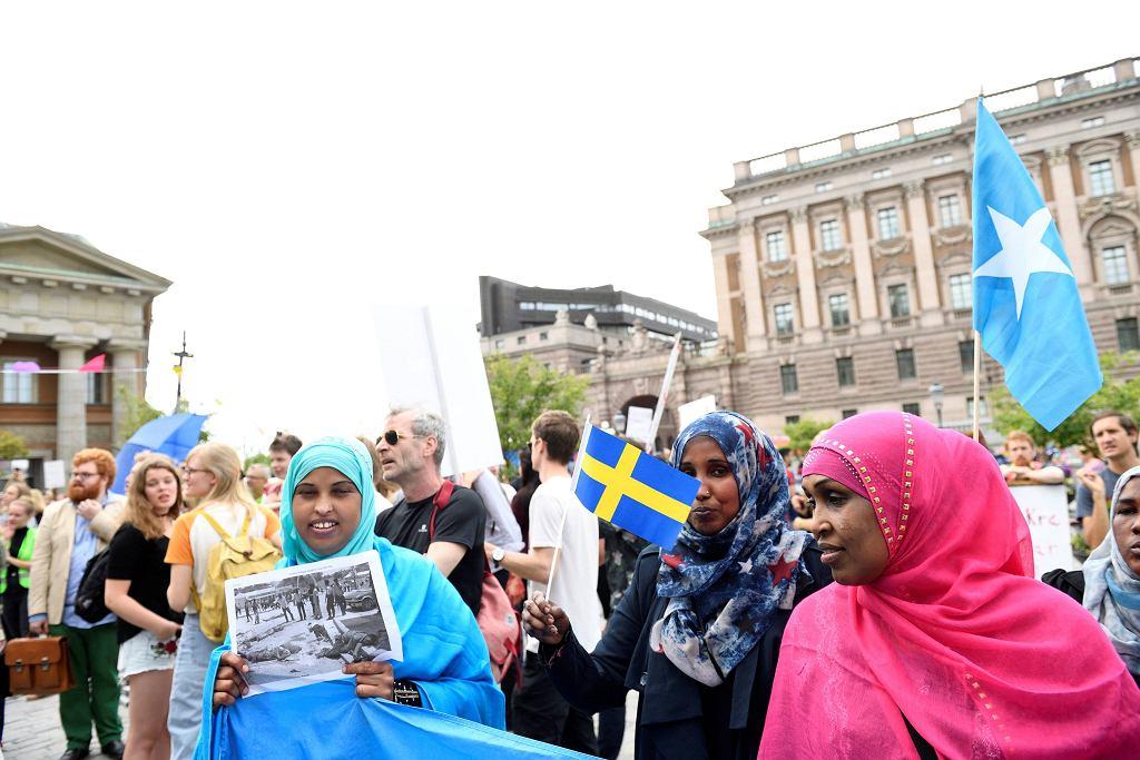 Sztokholm, protesty po zaostrzeniu przepisów o azylu