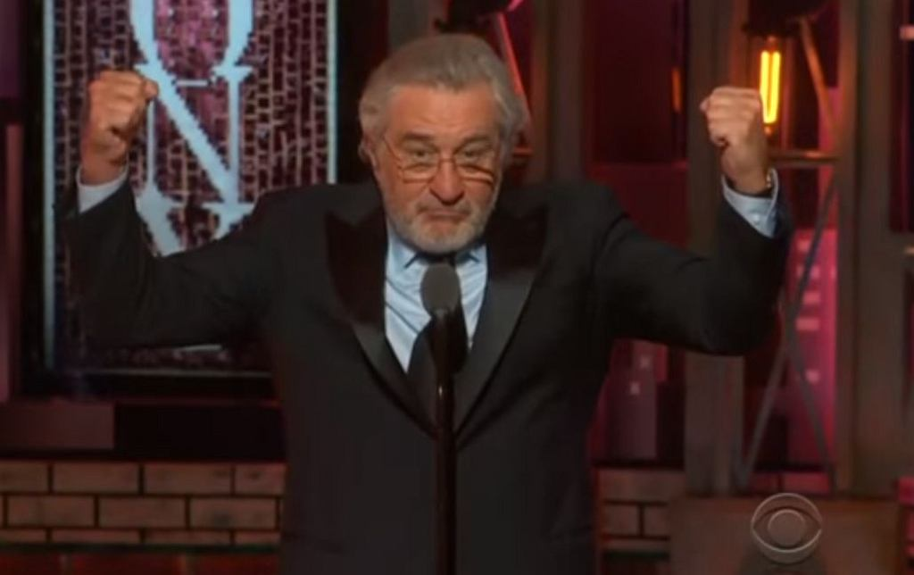 Robert De Niro na Tony Awards 2018