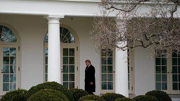 Prezydent USA Donald Trump w Białym Domu. Do końca kadencji zostało mu kilkanaście dni... Waszyngton, 31 grudnia 2020