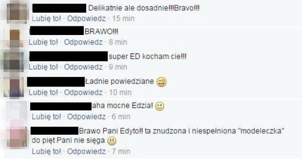 Internauci o ripoście Edyty Górniak