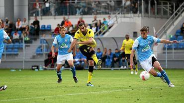 Mecz z Borussią Dortmund piłkarze Stomilu rozegrali na stadionie w Ostródzie