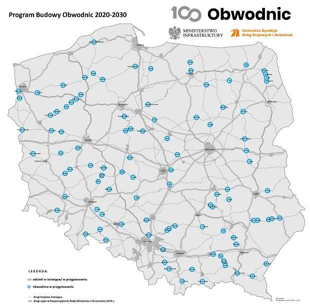 Program budowy 100 obwodnic na lata 2020 - 2030