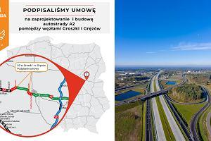Podpisano kolejną umowę na rozbudowę autostrady A2. Plany trasy w stronę Siedlec