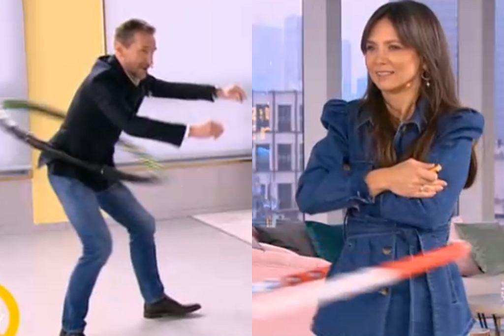 Kinga Rusin i Piotr Kraśko kręcili hula-hoop w 'DDTVN'