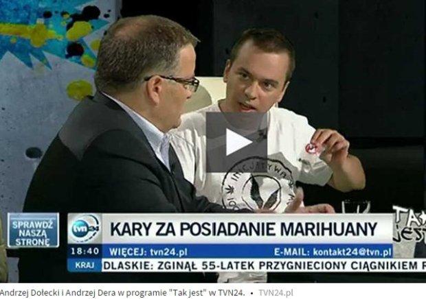 Andrzej Dołecki w programie TVN24