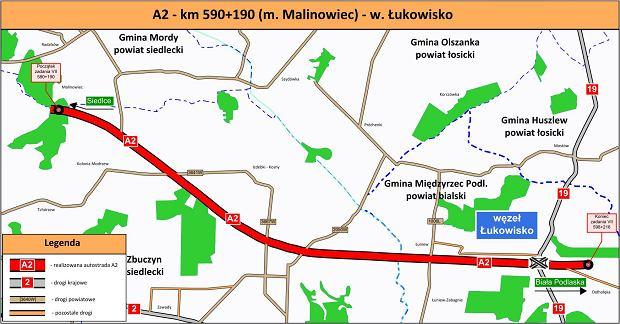 Autostrada A2, Siedlce - Biała Podlaska