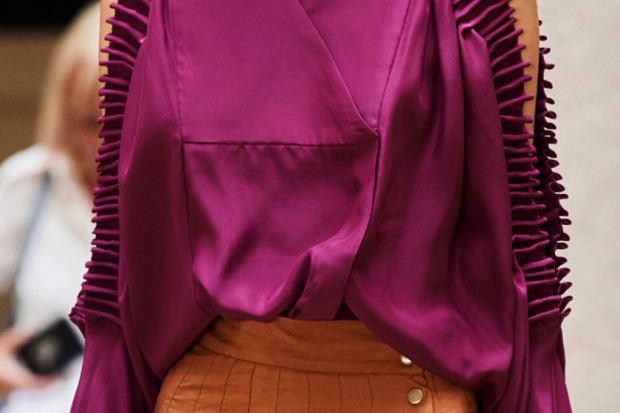 Fioletowa koszula satynowa SS2021 Mario Dice