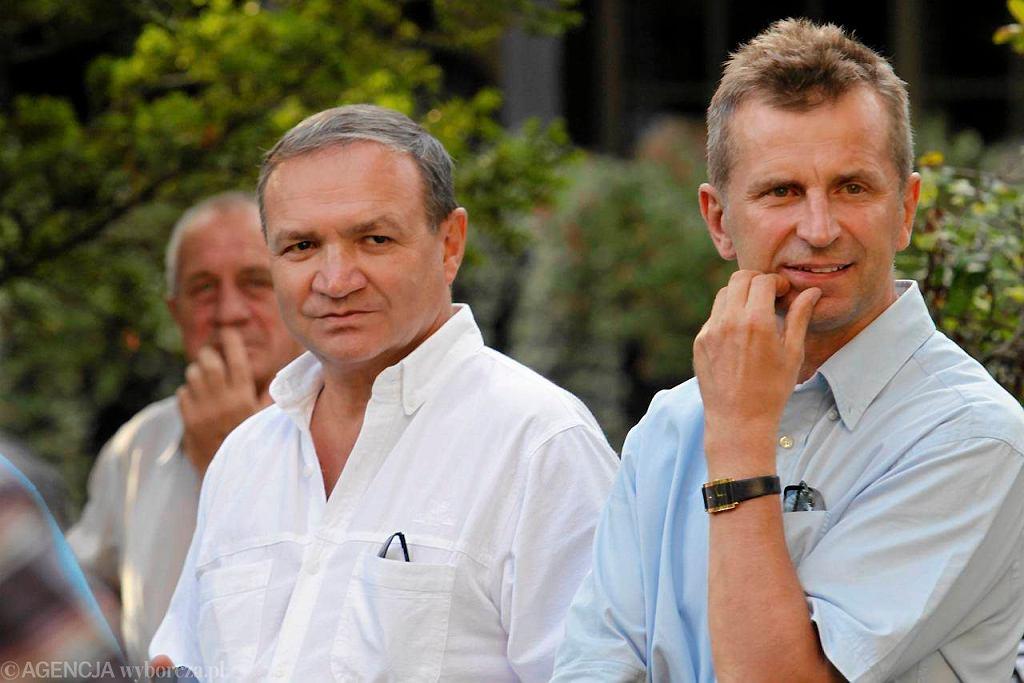 Szefowie JKH GKS: prezes Kazimierz Szynal (z lewej) i wiceprezes Andrzej Frysztacki