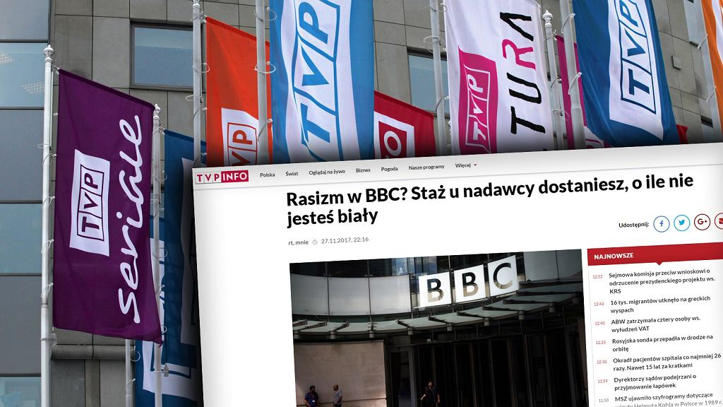 TVP pyta BBC o rasizm