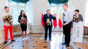 Spotkanie Tadeusza Truskolaskiego z olimpijczykami.
