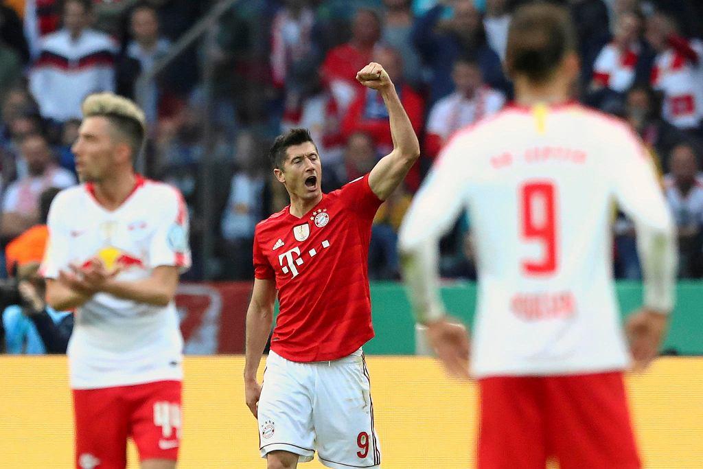 Robert Lewandowski w meczu z RB Lipsk zdobył dwa gole dla Bayernu Monachium