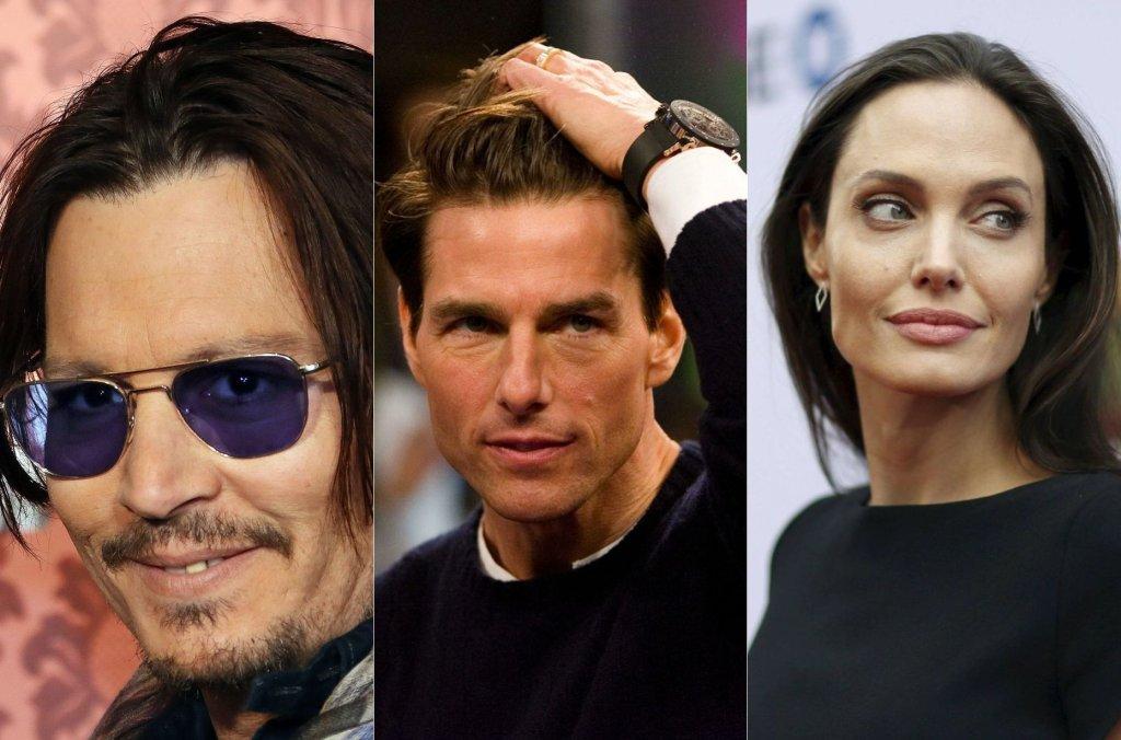 Johnny Depp, Tom Cruise, Angelina Jolie