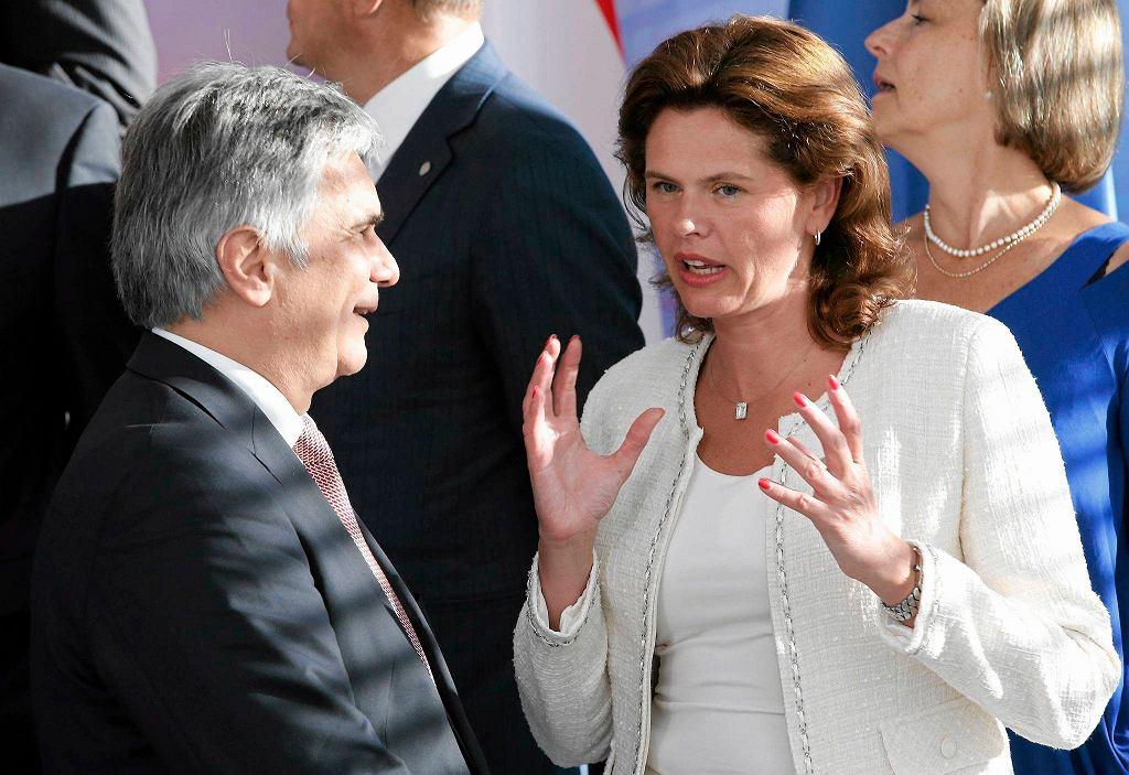Kanclerz Austrii Werner Faymann i była premier Słowenii Alenka Bratusek