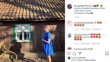 Magda Gessler będzie babcią. Lara Gessler pozuje już ze sporym brzuchem