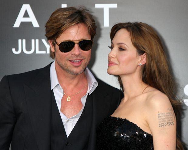 Brad Pitt i Angelina Jolie, moda męska, okulary przeciwsłoneczne