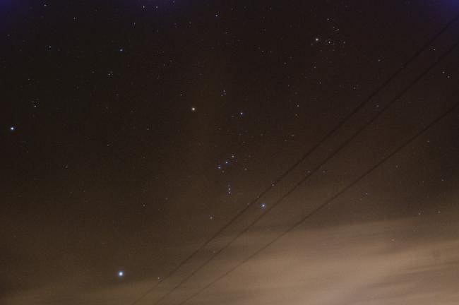 Na zdjęciu widoczny Orion