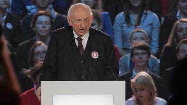 Prof. Bartoszewski podczas konwencji wyborczej Bronisława Komorowskiego