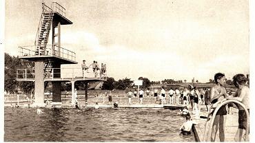 Katowice. Baseny pływackie, okres międzywojnia, około 1936 r.