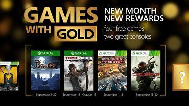Games with Gold na wrzesień 2015