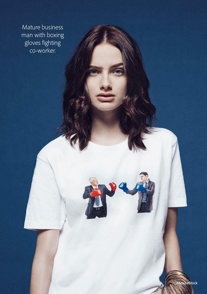 T-shirty z popularnymi zdjęciami ze stocka