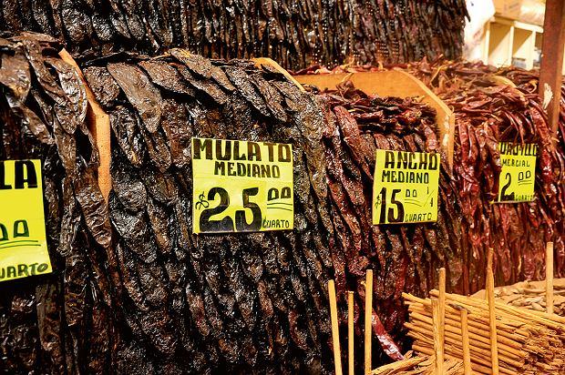 Gwatemala, papryki na targu
