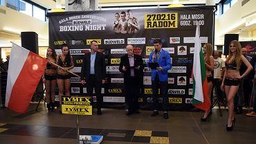 Ceremonia ważenia przed galą Budweld Boxing Night w Radomiu